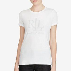 Ralph Lauren Studded Jersey T-Shirt - White